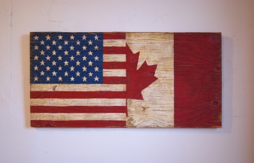 HALF USA HALF CANADA